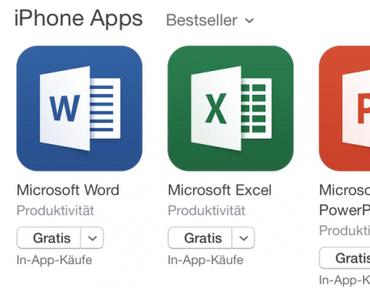 Microsoft Office kostenlos für iPhone und iPad! (Word, Excel, PowerPoint)