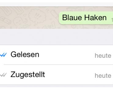 WhatsApp: Blaue Haken (Lesebestätigung) und wie man sie deaktiviert