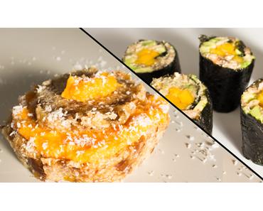 3+3 Rezepte-Wettbewerb #4 – Süßkartoffel-Muffins vs. Champignon-Sushi