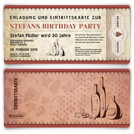 Besondere Einladungskarten Zum Geburtstag, Einladungsentwurf