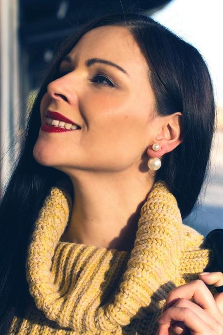 Kleidermädchen - Herbst Look mit Ohrringen - elegance-ankle-boot-style-L-WjZZpy