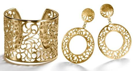 Irina Bischoff Fine Jewellery - Kollektion Filigree, Armspange N1 (links), Creolen (rechts), Fotos: fashionpress.de