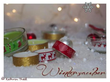 diy xmas tealights weihnachtliche teelichter. Black Bedroom Furniture Sets. Home Design Ideas