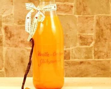 Selbstgemachter weißer Vanille Orangen Glühpunsch