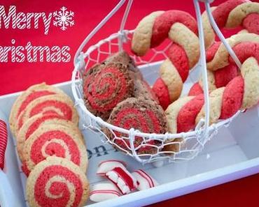 Weihnachtsbäckerei: Swirled Sugar Cookies & Candy Canes Cookies