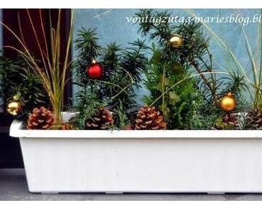 Meine weihnachtlichen Blumenkisterln