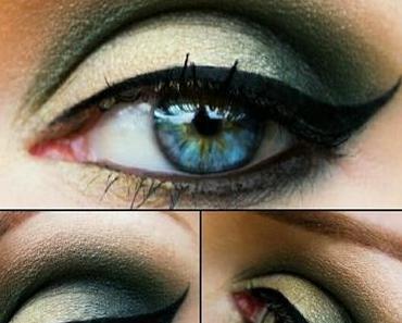 Makeups im Herbst: Makeup Var. 3 - Abend-Makeup in Gelb(gold)- & Grüntönen