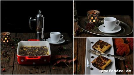 Adventskaffee: Espresso Brownies mit Baileys-Zimt Cheesecake Swirl