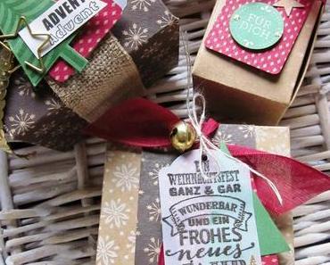 Geschenkschachteln - Gift Boxes - Weihnachten: Blog-Hop Team StampinClub