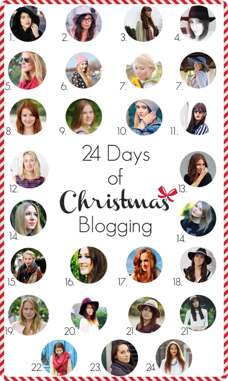 Blogger Adventskalender 2014: 24 Days of Christmas Blogging