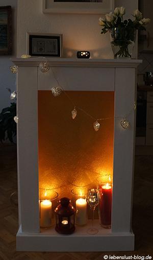 Schoner Kerzen Schein Mein Neuer Dekokamin