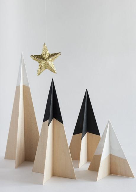 diy inspirationen puristische weihnachten mit holzdeko moderne deko - Holz Deko Modern