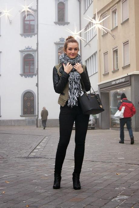 BIG SCARF AND BUN - COZY LOOK