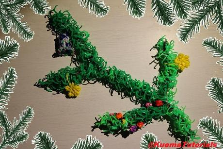 Rainbow Loom Tannenzweig - fir branch Tutorial
