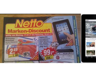Tablets: Netto verhökert i-Pad-Kopie mit Android 1.6