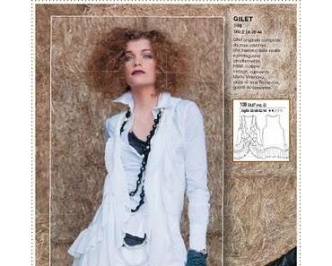 La Mia Boutique | Modellübersicht Ausgabe Januar 2011& Lecker Vorschau Februar& Strickmantel mit Spitzenbesatz