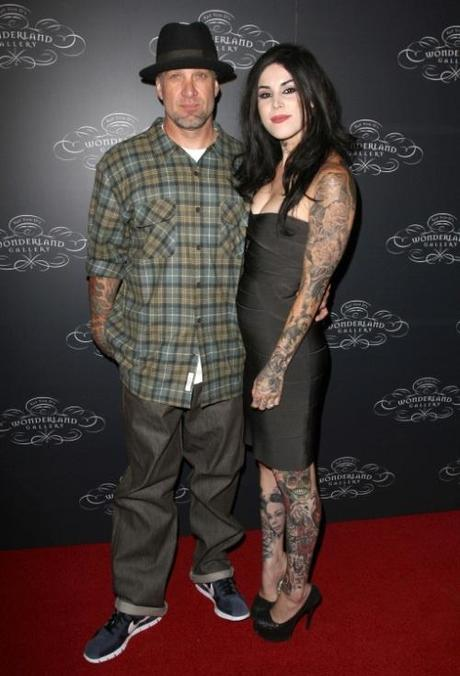 2 September 2010 - West Hollywood, CA - Jesse James and Kat Von D. TWO WORLDS OF ART collide at the Debut of kat von d s Wonderland gallery held Wonderland gallery. Photo Credit: Faye Sadou/AdMedia