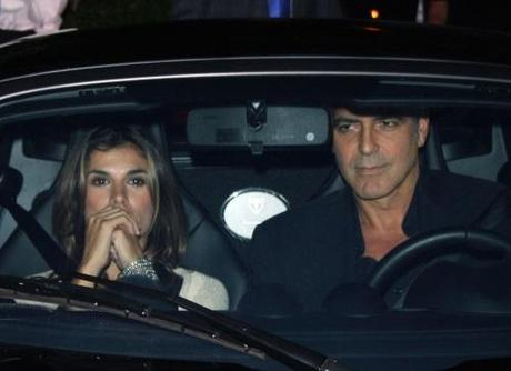 George Clooney and girlfriend Elisabetta Canalis seemed as happy as they could be as they left Ago in West Hollywood, CA after dinner on September 3, 2010. Fame Pictures, Inc