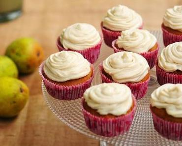Kürbis-Birnen-Cupcakes