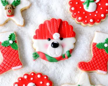 Weihnachtliche Fondant Kekse