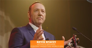 Kevin Spacey auf der Content Marketing World 2014 in Cleveland, Ohio