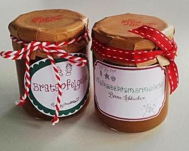 Weihnachtsmarmelade & Bratapfelgelee