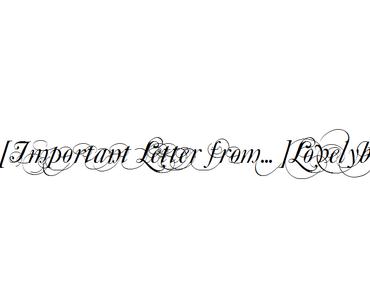 [Important Letter from...] Lovelybooks