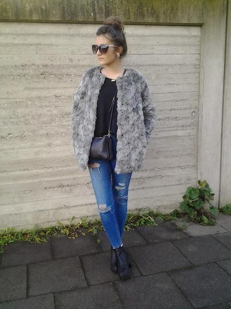 Last Sunday: Fake Fur Coat