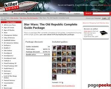 Star Wars: The Old Republic Complete Guide Package