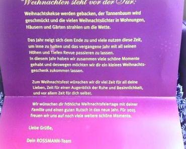 Die Rossmann Weihnachtsbox 2014