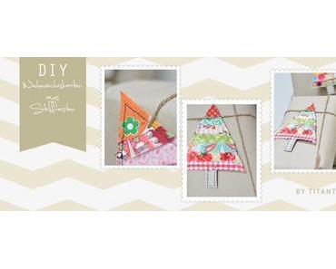 DiY Weihnachtskarten aus Stoffresten