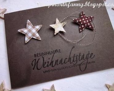Schnelle Weihnachtskarte & weiße Adventsdeko