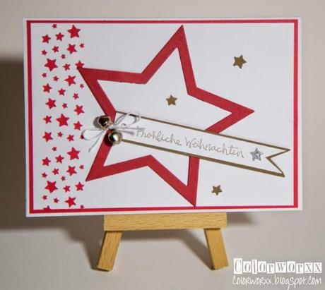 weihnachtskarten 2014 mit stampin up. Black Bedroom Furniture Sets. Home Design Ideas