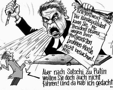 Bundespräsident Gauck ist eine Beleidigung für alle aufrichtigen Menschen