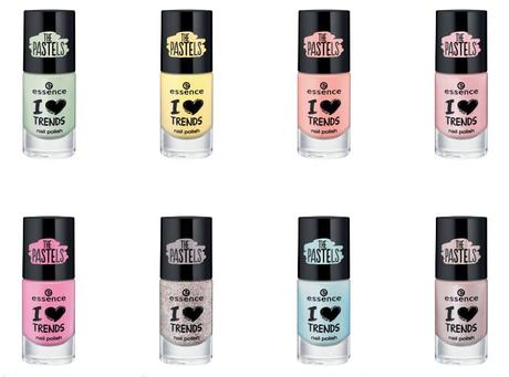 essence Sortimentswechsel Frühling Sommer 2015 – Neuheiten essence I ♥ TRENDS nail polish the pastels