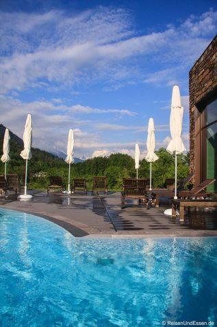 Aussenpool im Mountain Spa im Intercontinental Berchtesgaden Resort