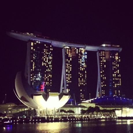 Marina Bay Sands Singapore at night