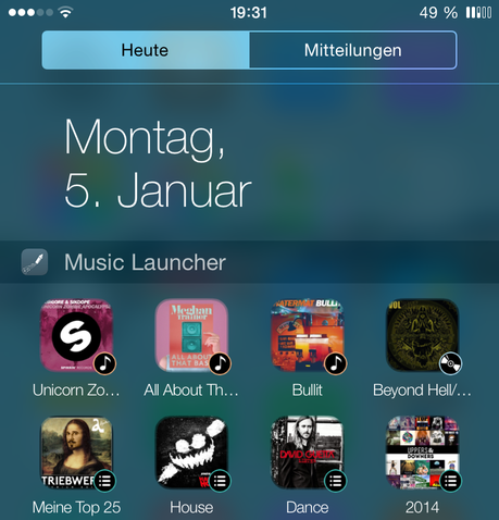 Music Launcher Widget