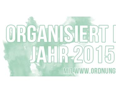 Organisiert ins Jahr 2015: Faltbarer Jahresplaner (ohne Wochentage) für A5 Planer