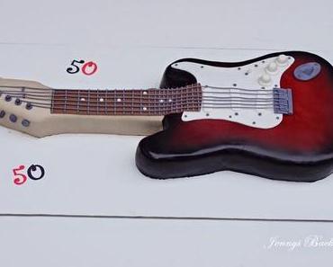 Eine weitere E-Gitarre als Torte