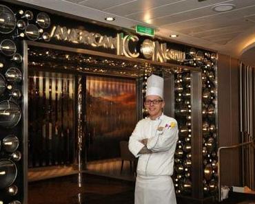 Besondere Berufe auf hoher See: Deutscher Chefkoch an Bord des Kreuzfahrtschiffes Quantum of the Seas von Royal Caribbean International