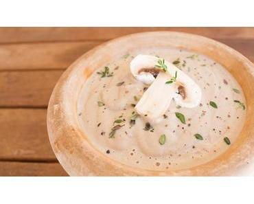 Nur 3+3 Zutaten für eine cremige Champignon-Suppe