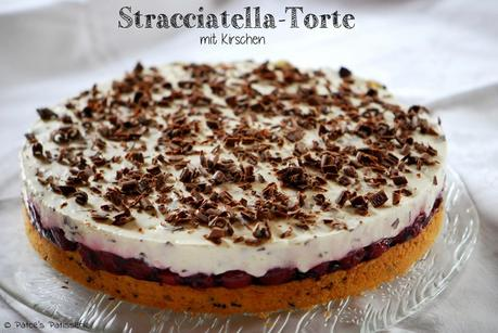 stracciatella torte mit kirschen. Black Bedroom Furniture Sets. Home Design Ideas