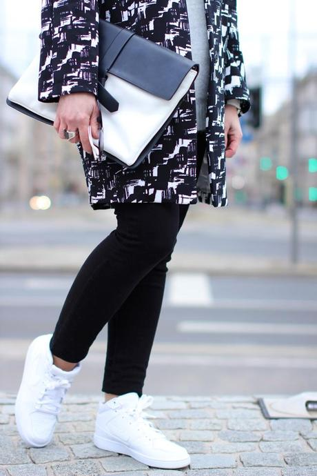 Black & white sporty glam