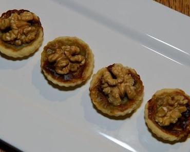 Mini-Tartelettes mit Birnen-Blauschimmelkäse (ovo-lacto-vegetarisch)