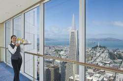 Valentinstag über den Dächern von San Francisco