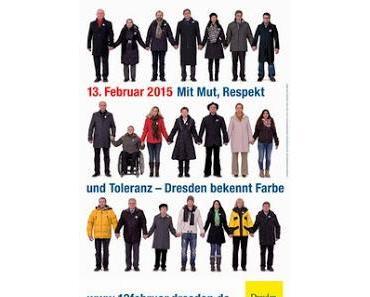 Dresden bekennt Farbe ... Bloggedanken zum 13. Februar 2015