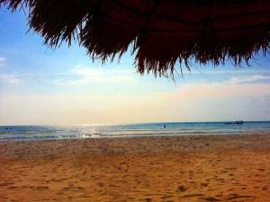 Der Strand am Sunset Lounge Beach Resort in Sihanoukville.