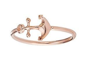 caï Ring mit Anker in Rose Gold