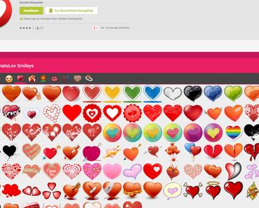 Valentinstags APP mit meinen Herz Icons